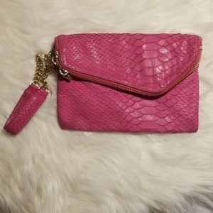 Henri Bendel pink wristlet